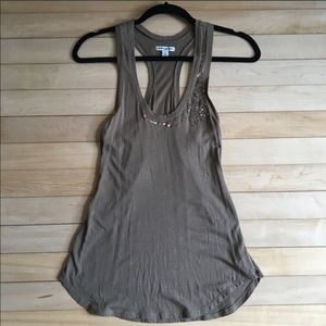 American Eagle Brown Beaded Tank Size Extra Small